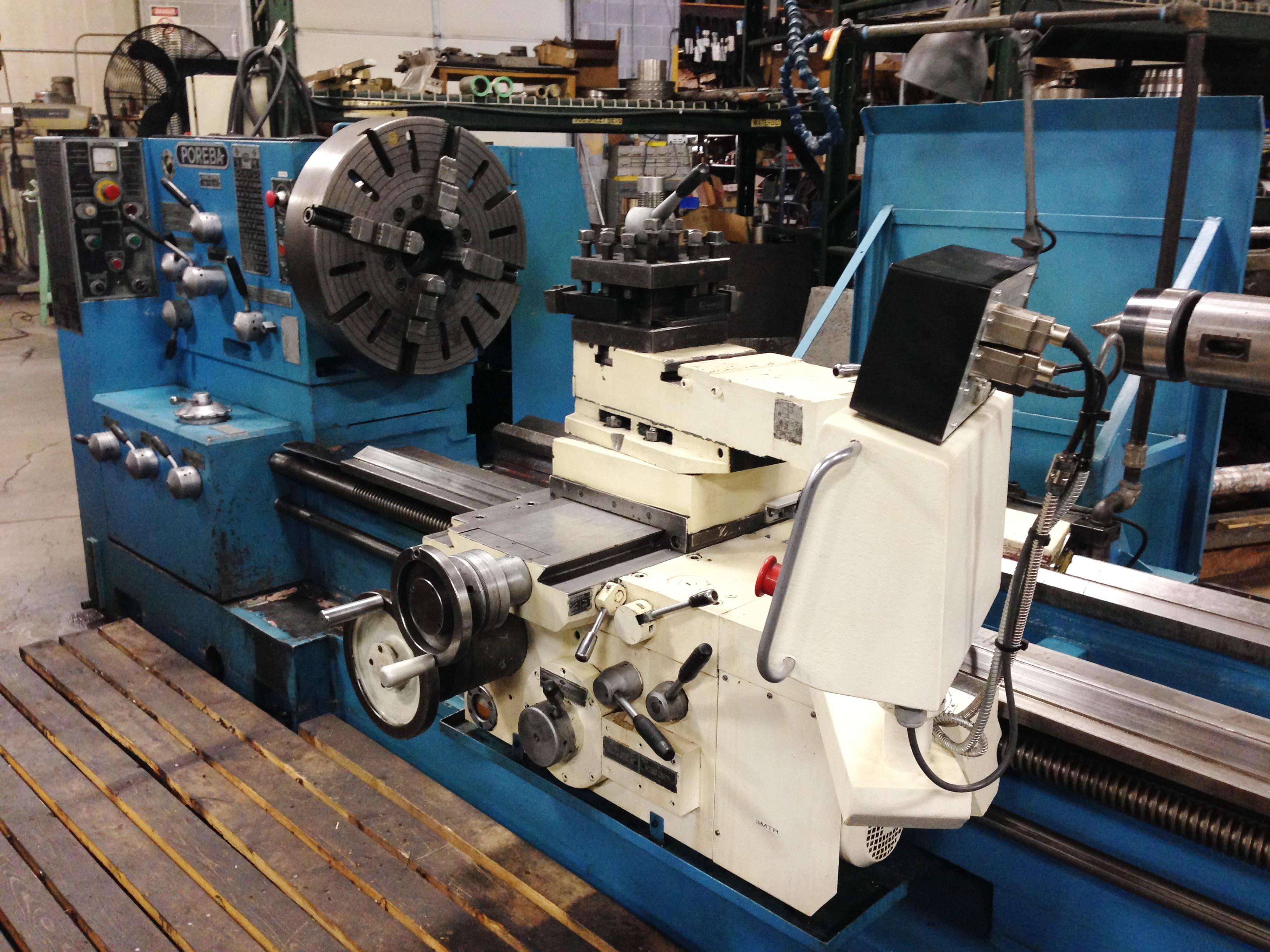 """Lot 9 - 36"""" x 120"""" Poreba TPK-90/3M Engine Lathe, S/N: 05048-09, New 1997"""