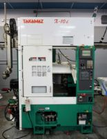 Lot 8 - TAKAMAZ X-10I CNC TURNING CENTER WITH AUTO LOAD/UNLOADER ROBOT I, s/n 754161