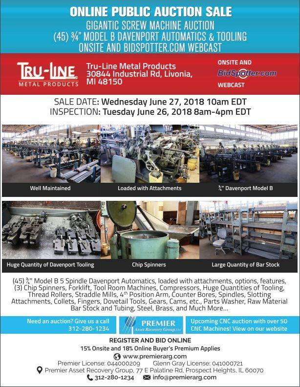 Lot 0 - Full Catalog Coming Soon! Gigantic Screw Machine Auction
