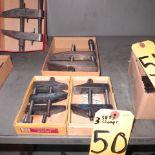 2-SETS LUFKIN NO 910-D & 1-SET STARRETT NO 161-E TOOLMAKERS CLAMPS