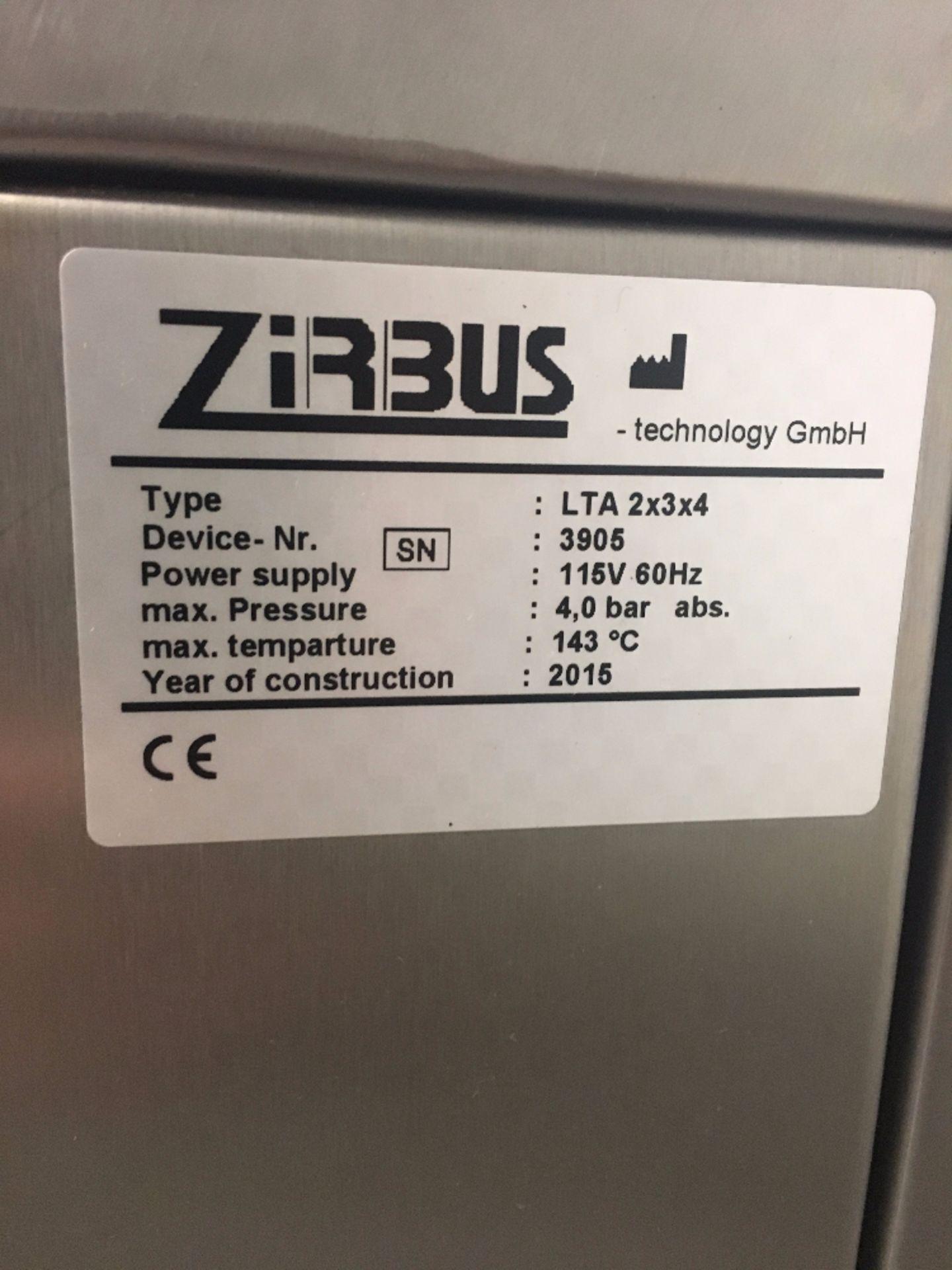 ZirBus LTA 2x3x4 Laboratory Tabletop Autoclave - Image 4 of 4