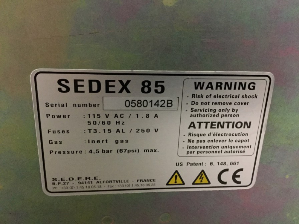 Lot 41 - Sedere Sedex 85 LT-ELSD Evaporative Light Scattering Detector