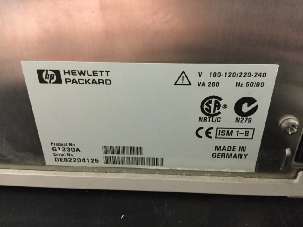 Lot 61 - Hewlett Packard 1100 Series G1330A ALSTherm Autosampler Thermostat