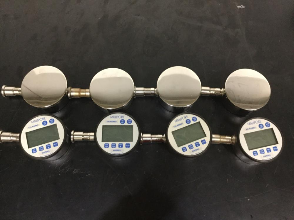 Lot 4 - Lot of (8) Millipore Sanitary Digital Pressure Gauges