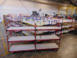 "Lot 31 - 3-Level Inventory Shelf Carts, 24""x112""x65"" Tall"