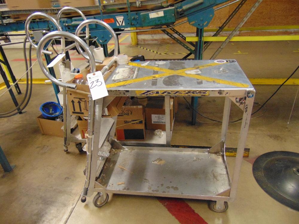 Lot 23 - Aluminum Inventory Transport Cart (No Contents)