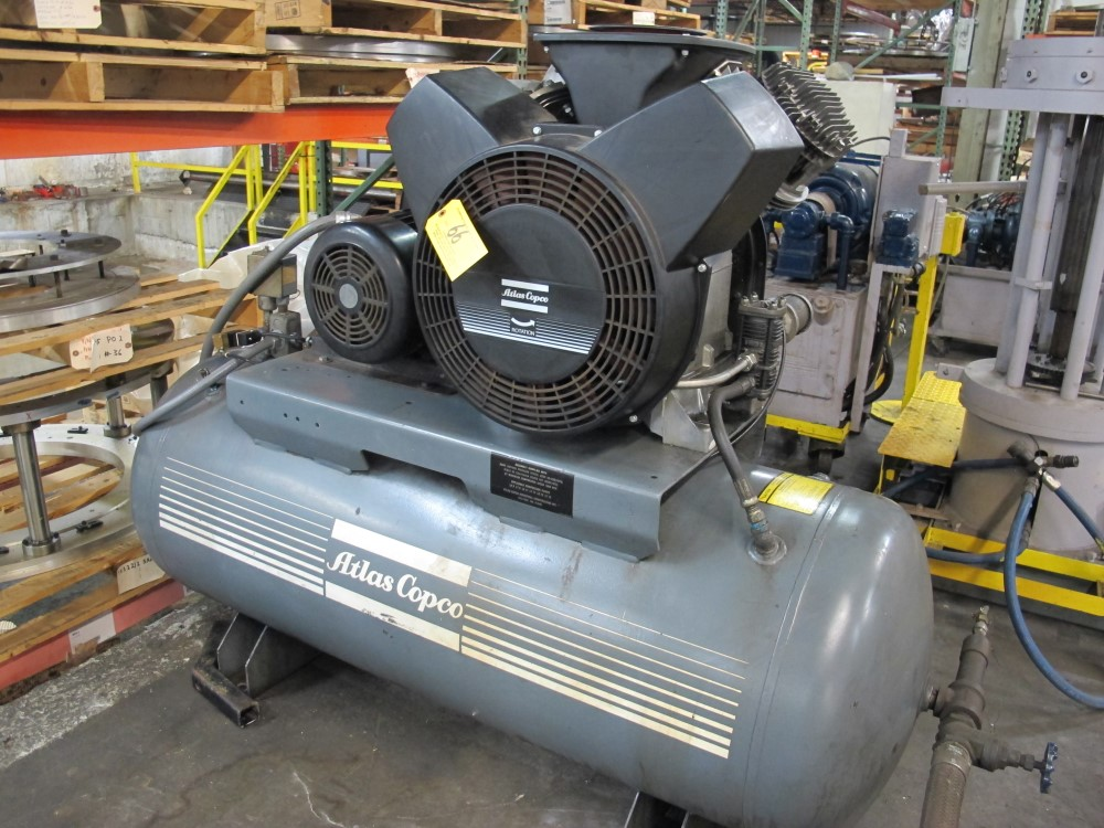 atlas copco tank mounted air compressor 15 hp model lt11uv s n rh bidspotter com