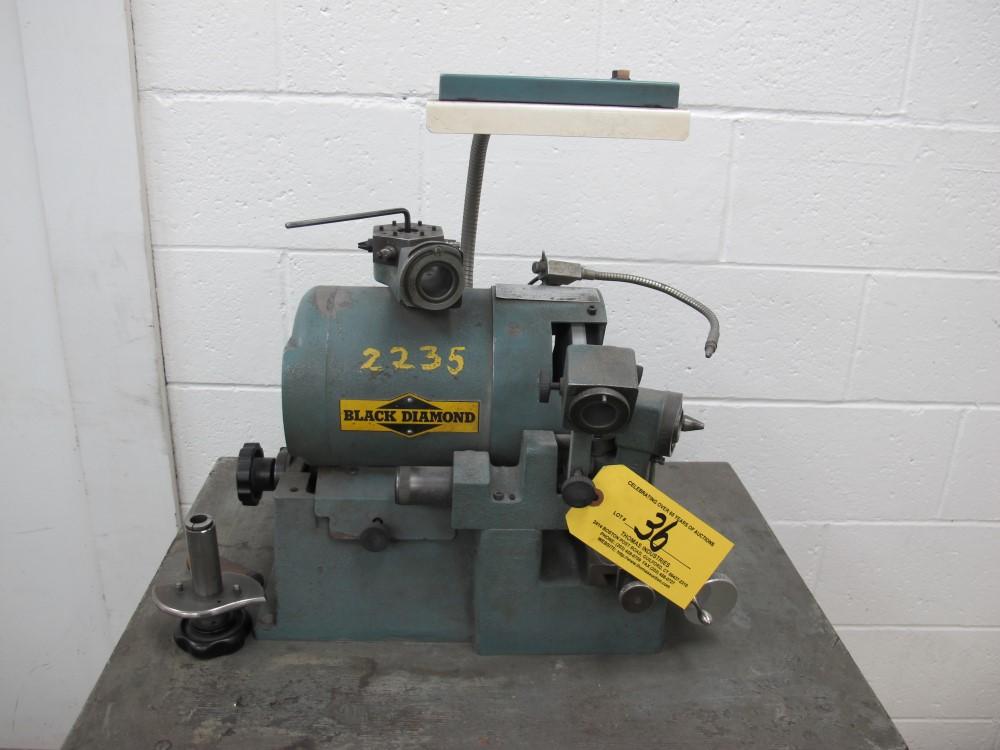 black webster black diamond tool grinder model bw75 s n 25835 1 3 hp rh bidspotter com