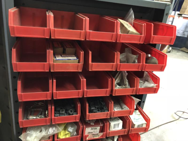 Lot 8 - Heavy Duty cabinet 2 door & 4' with assorted hardware