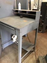 Lot 7 - Foreman's grey metal desk