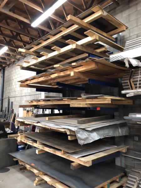 Lot 19 - 6 Shelf metal stock rack, 8' (Rack Only)
