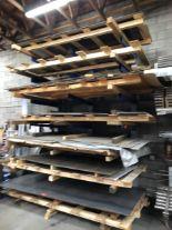 Lot 18 - Contents of 7 shelves, stock sheet metal'