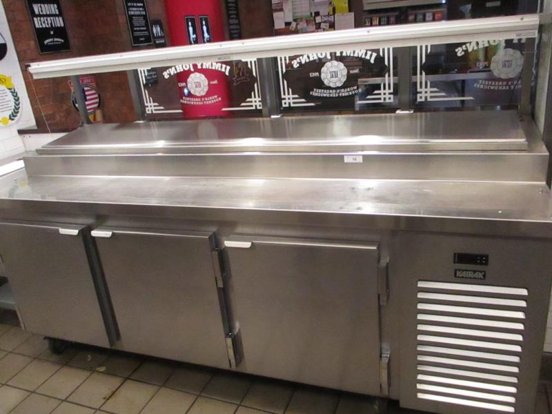 Lot 16 - Sandwich Prep Units by Kairak, Model: KBP-91S, SN: K60295C14