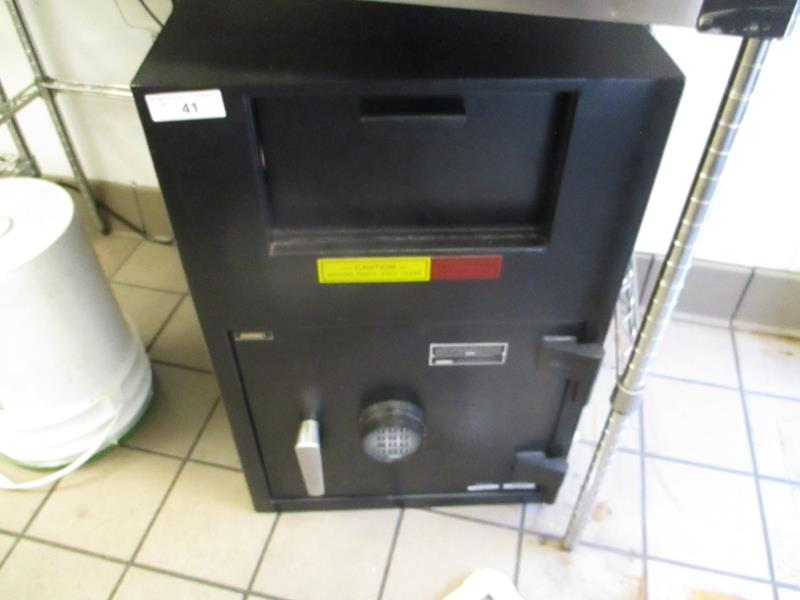 Lot 41 - Floor Safe by Amsec, Keypad Combo & Night Drop, SN: KS330331 & AP179640