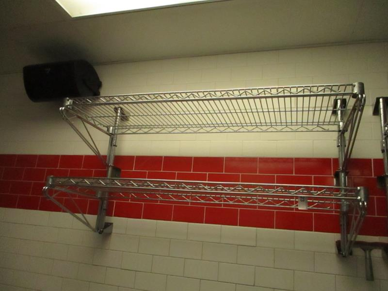 Lot 23 - 3' Metro Metal Wire Wall Rack