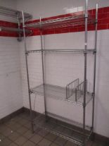 "Lot 30 - Metal Wire Metro Shelves, Approx. 4' x 18"" x 7'"