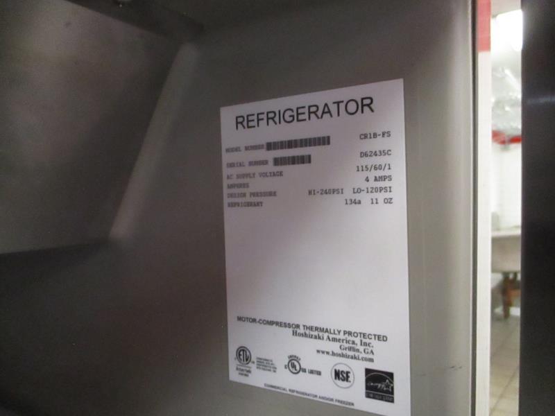 Lot 22 - Reach In Commercial Refrigerator by Hoshizaki, Model: CR1B-FS, SN: D62435C