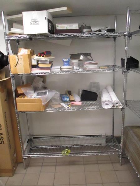 Lot 46 - Metal Wire Metro Shelf Unit