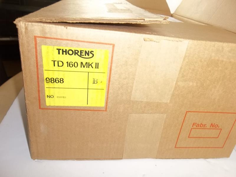 Lot 607 - Thorens TD 160 BC MKII, no arm, with dust cover, in Thorens box, # 290419x