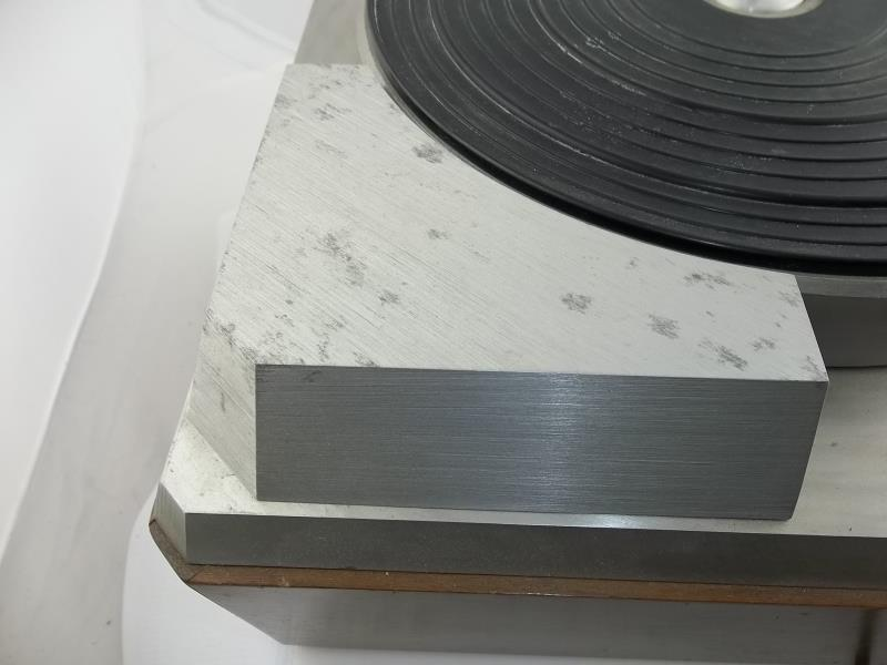 Lot 551 - Empire turntable, no arm, brushed silver finish (pitted) #15315