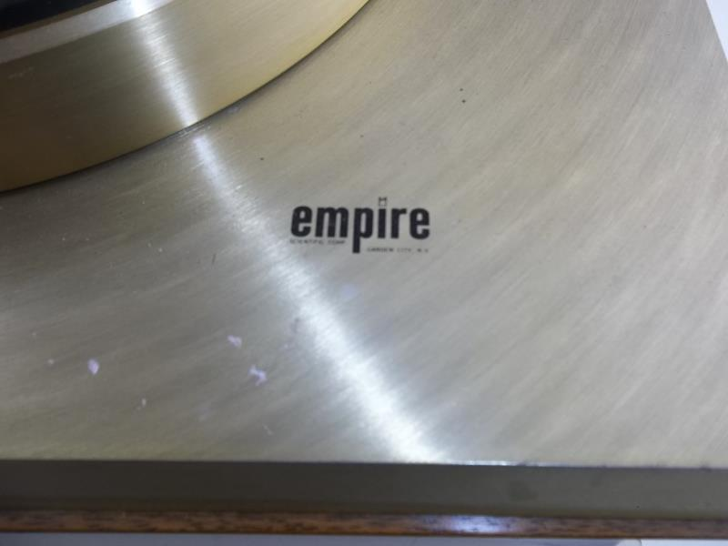 Lot 561 - Empire turntable, brushed gold finish, no arm, #23506