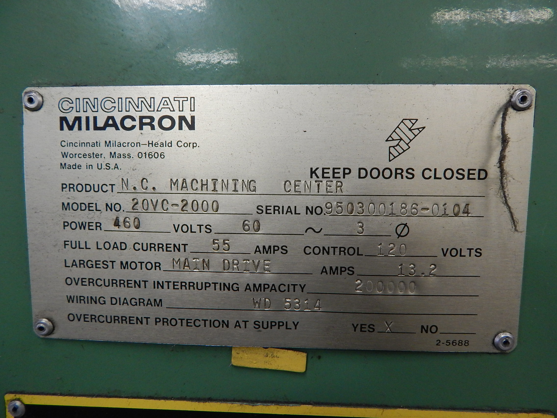cincinnati milacron model 20vc 2000 cnc vertical machining center s lot 242 cincinnati milacron model 20vc 2000 cnc vertical machining center s