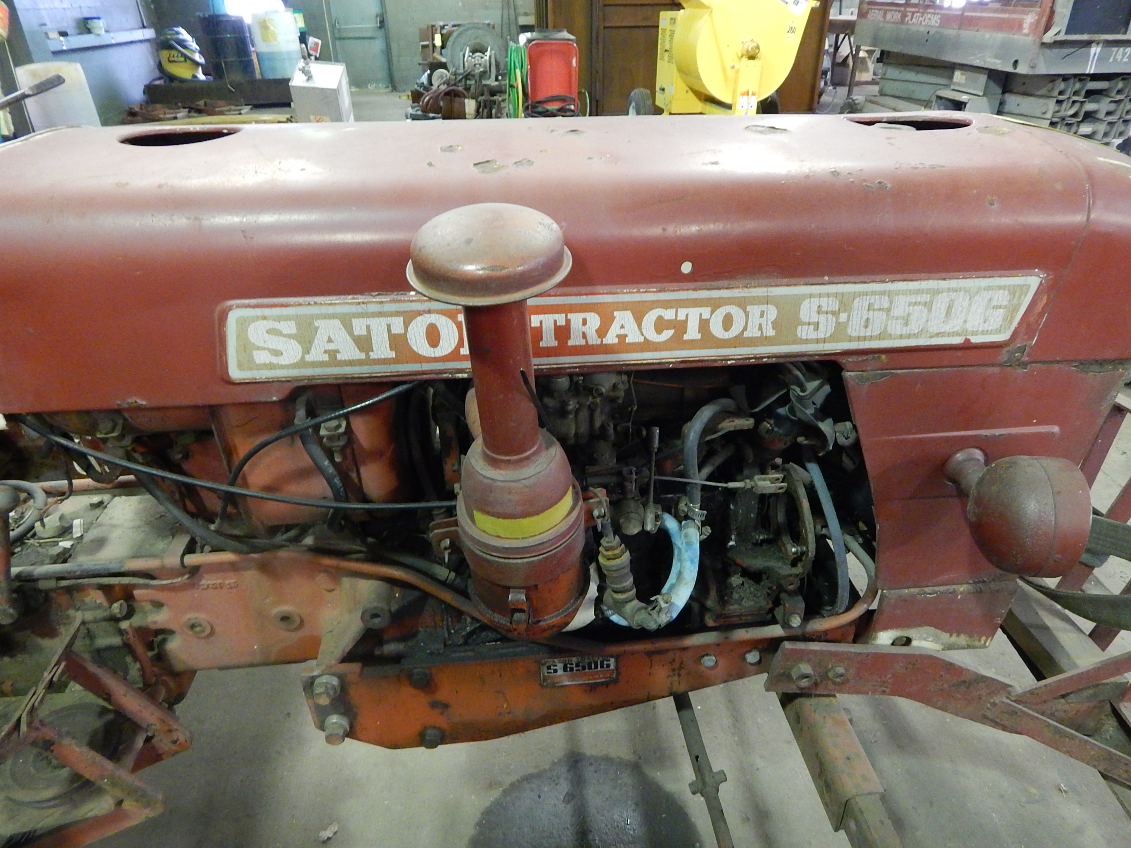 satoh model s-650g tractor, 4 cylinder gas engine, 2 wd ... satoh tractor 4 cylinder engine diagram