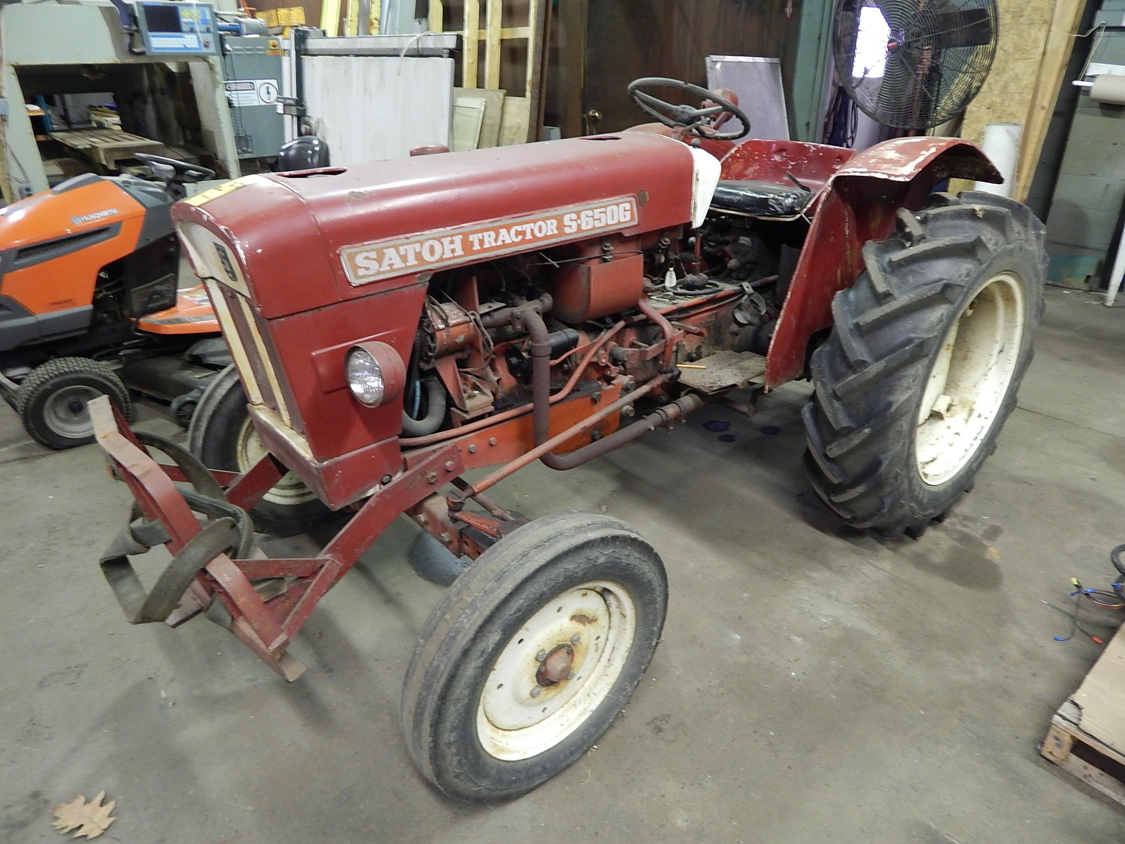 satoh model s-650g tractor, 4 cylinder gas engine, 2 wd ... ford ranger 4 cylinder engine diagram