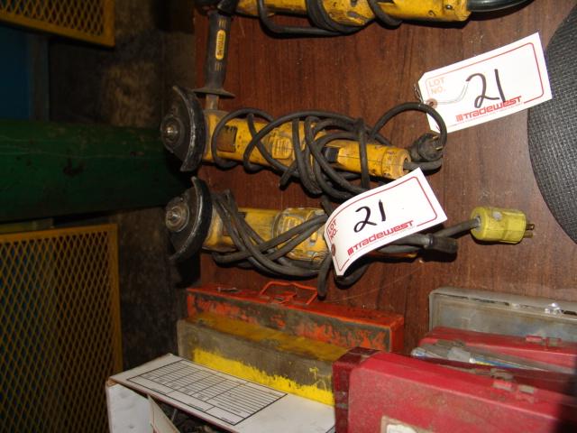 Lot 21 - (2) DEWALT ANGLE GRINDERS
