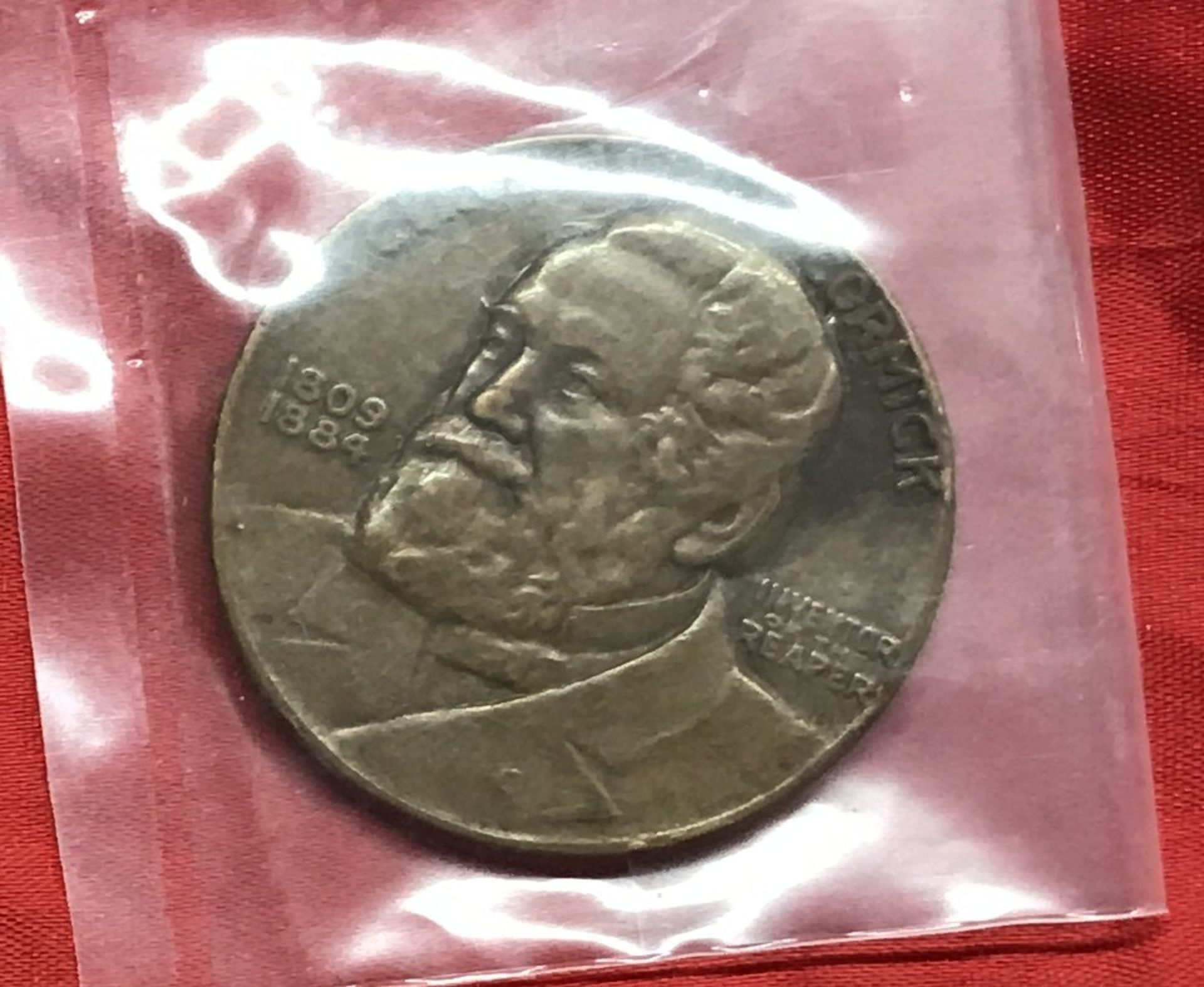 Lot 18 - 1931 Cyrus McCormick Bronze Token