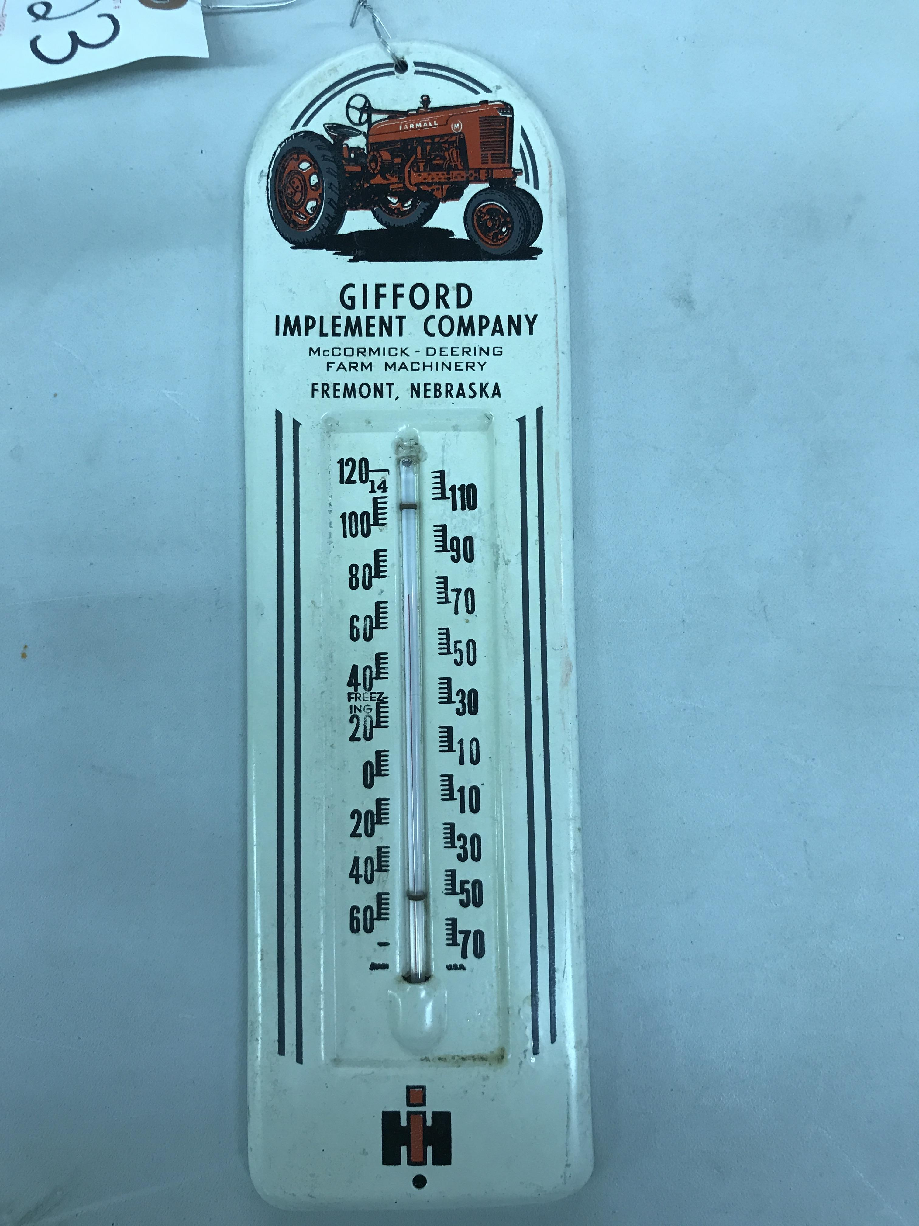 Lot 43 - Gifford Implement Fremont NE Thermometer