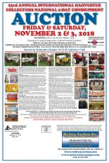 Lot 0 - Full Catalog Coming! 23rd Annual International Harvester Collectors National 2-Day Consignment
