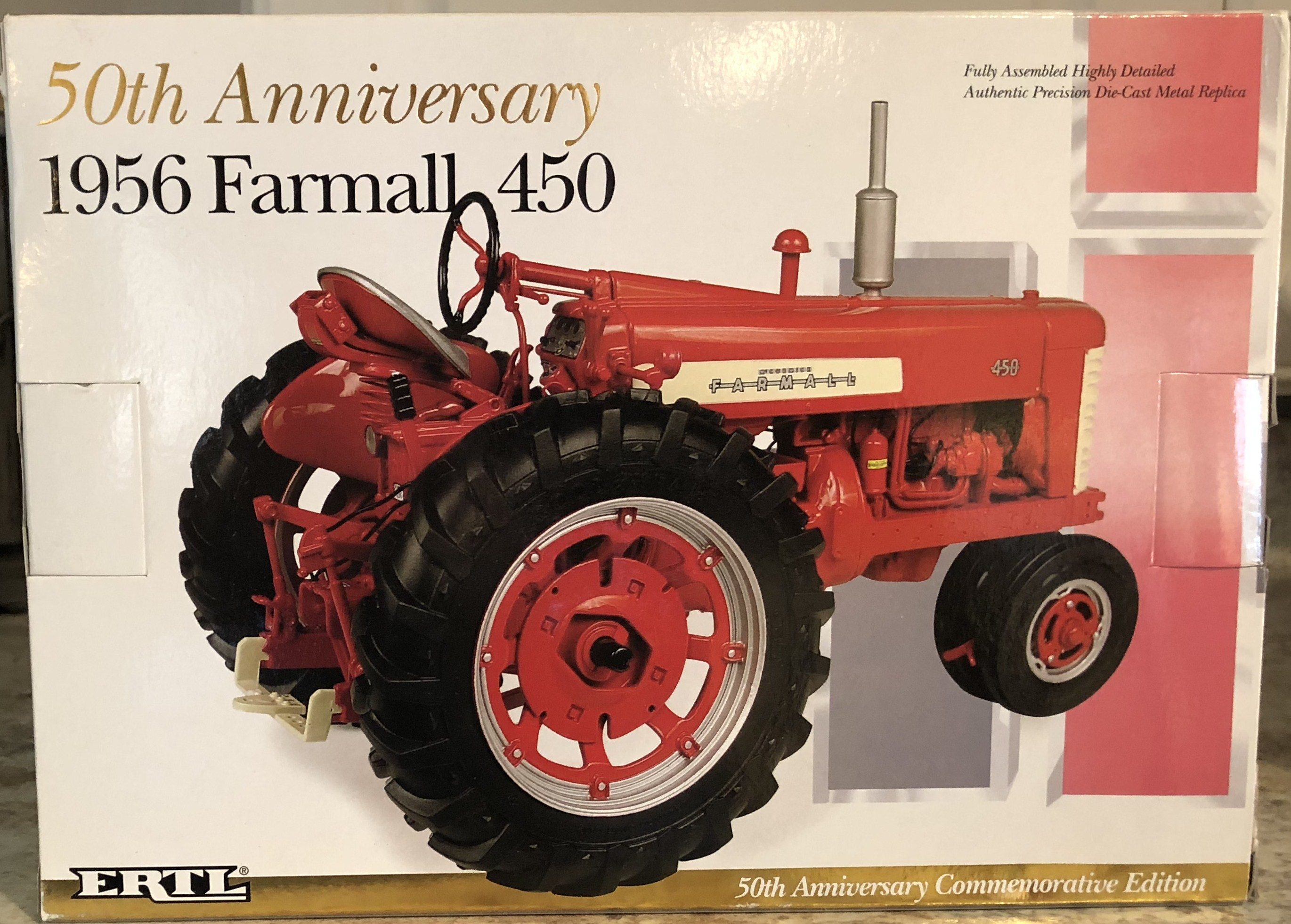 Lot 9 - 50th Anniv Farmall 450 Tractor NIB