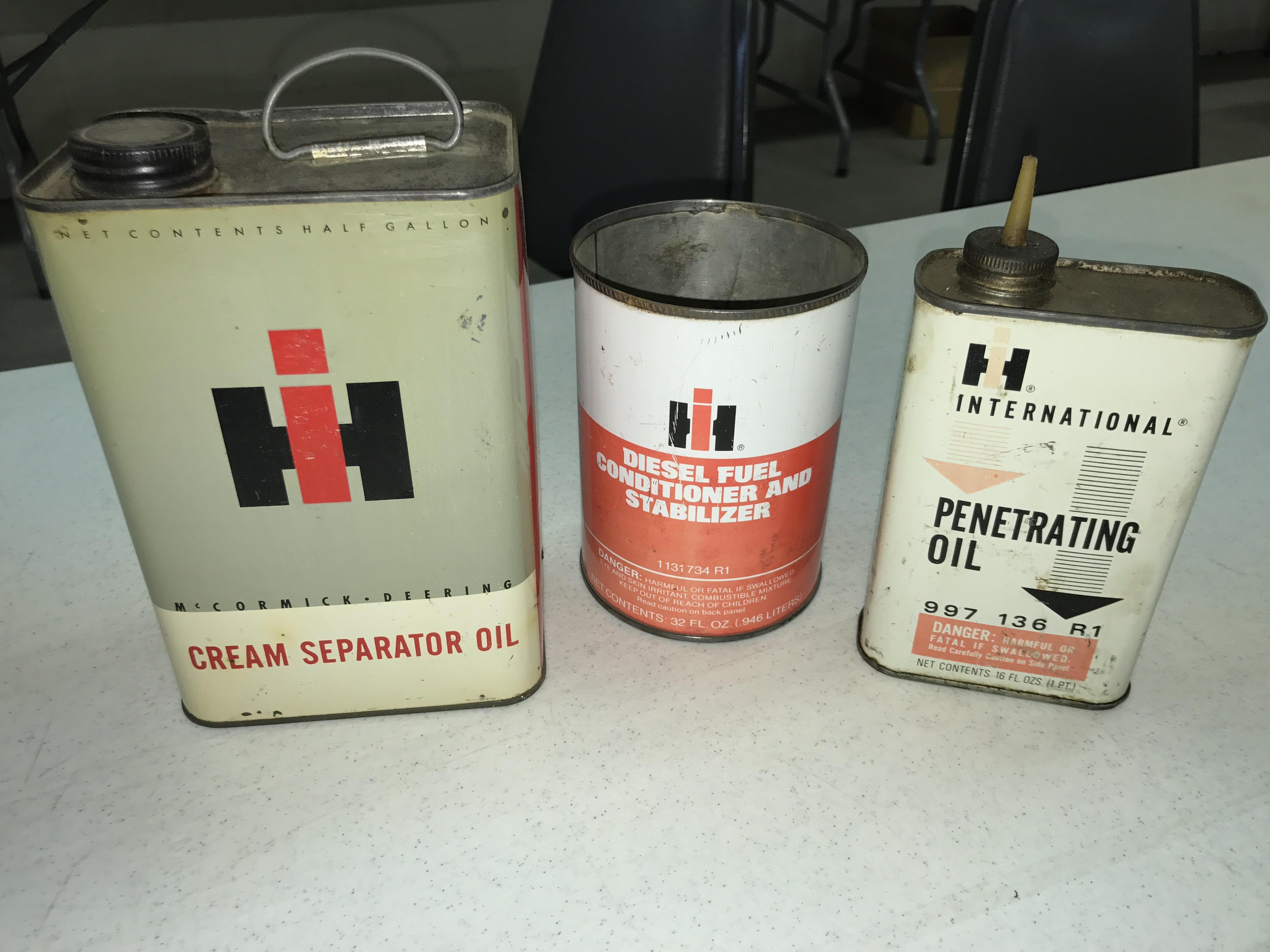 Lot 32 - Cream Seperator Oil Can Penetrating Oil and Stabilizer Can