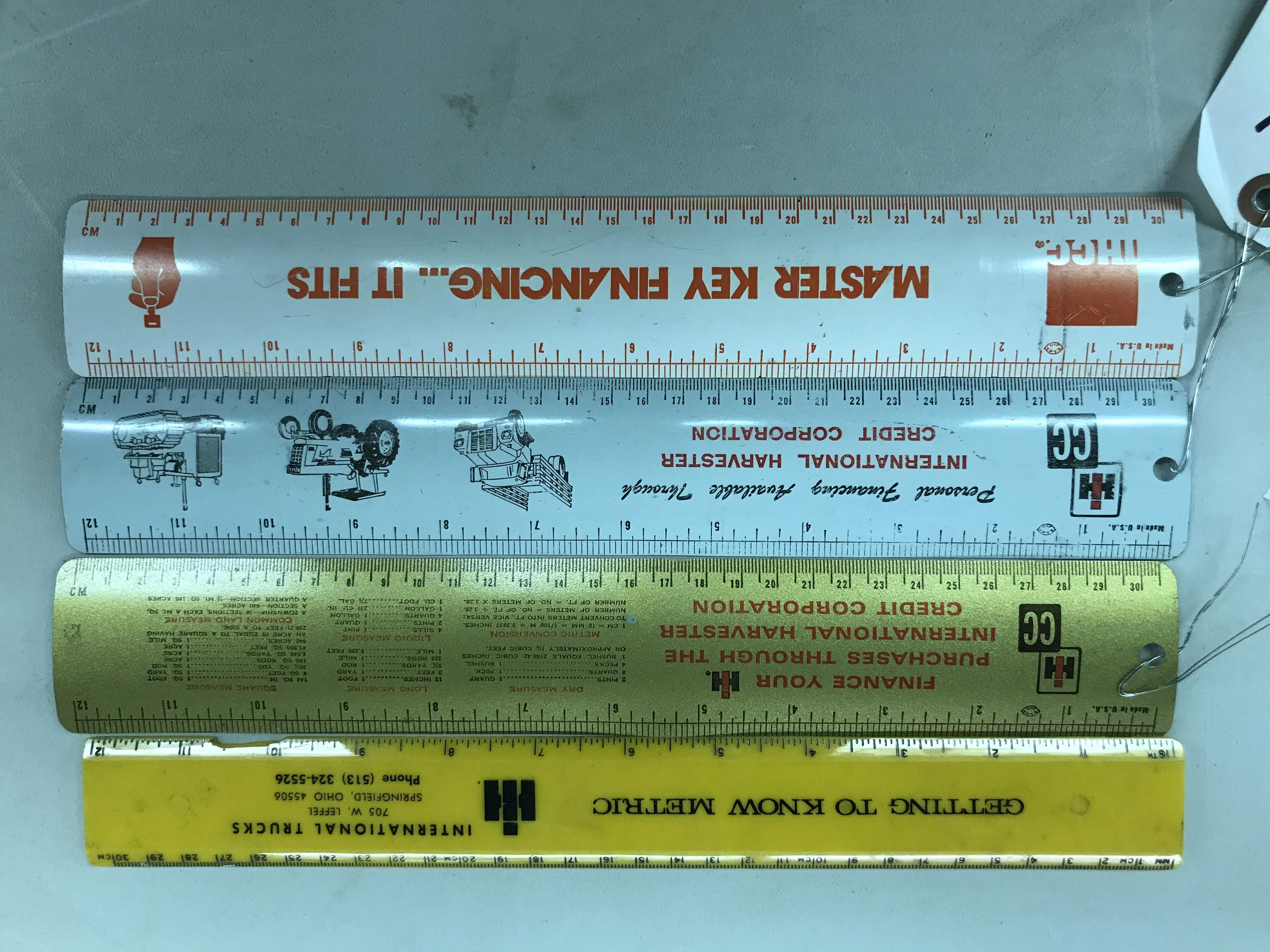 Lot 38 - 4 Advertising Rulers