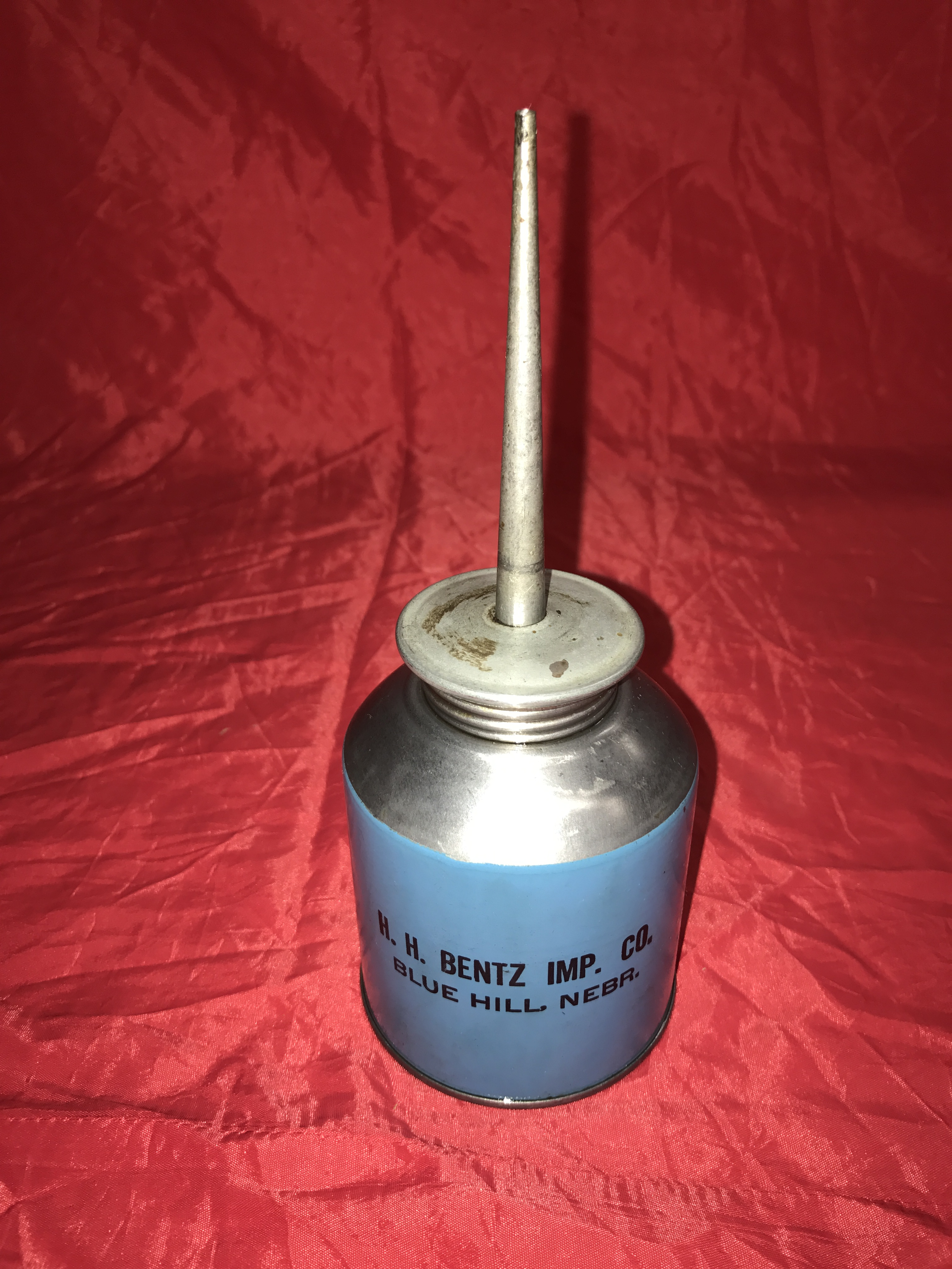 Lot 13 - McCormick Deering Oil Can H.H.Bentz Imp. Co.Blue Hill NE