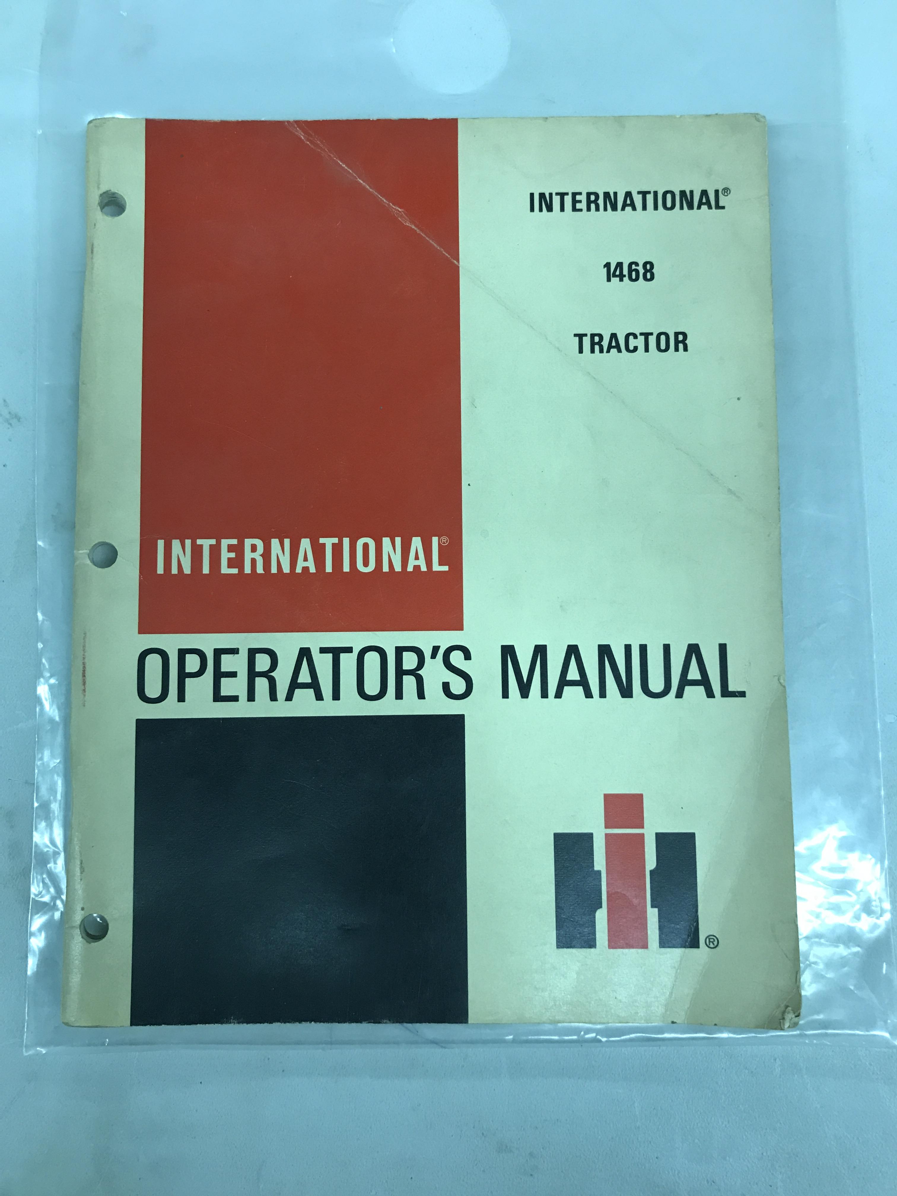 Lot 40 - 1468 Operators Manual