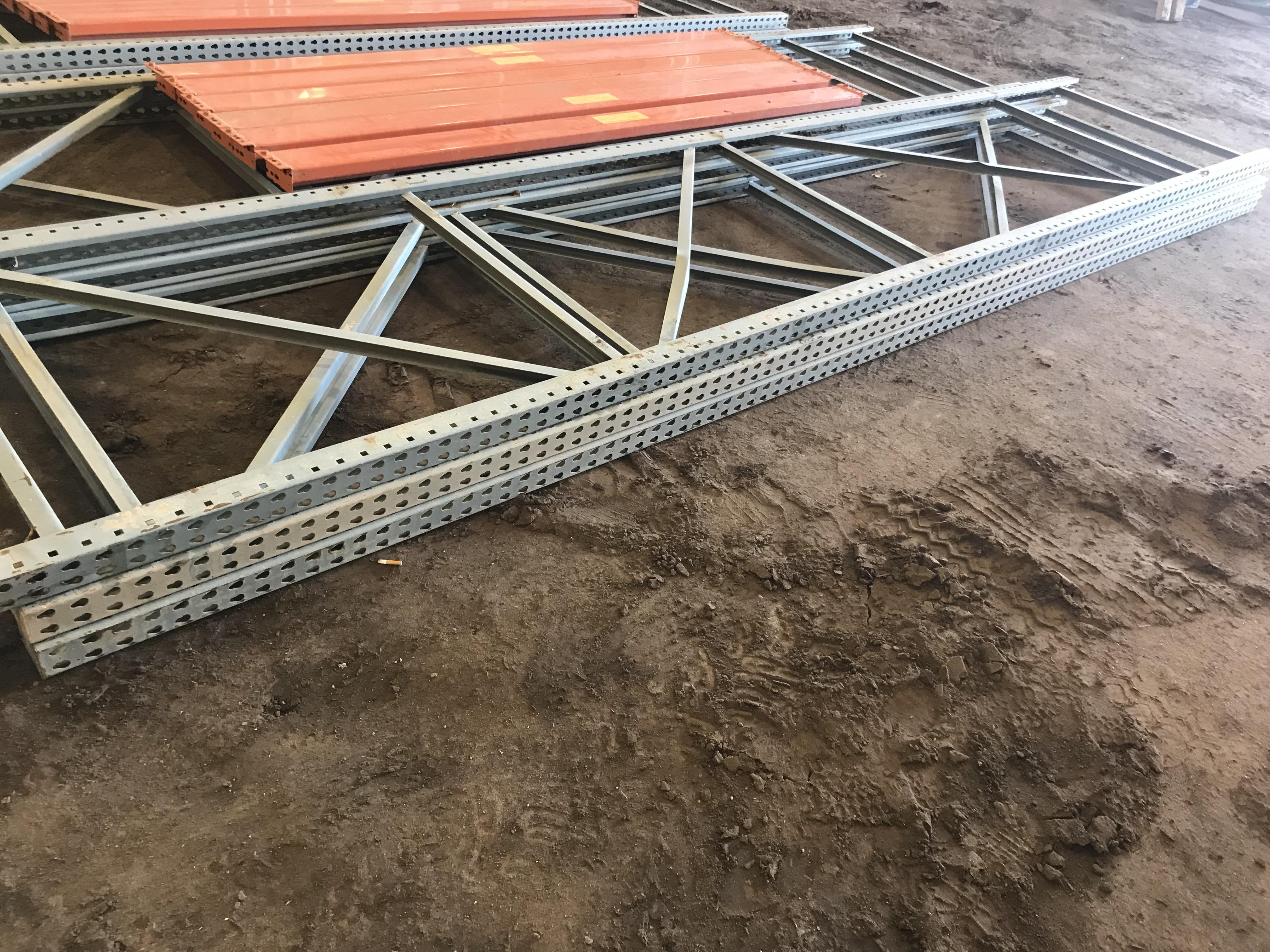 Lot 55E - Pallet Shelving 3) 15' Uprights Only