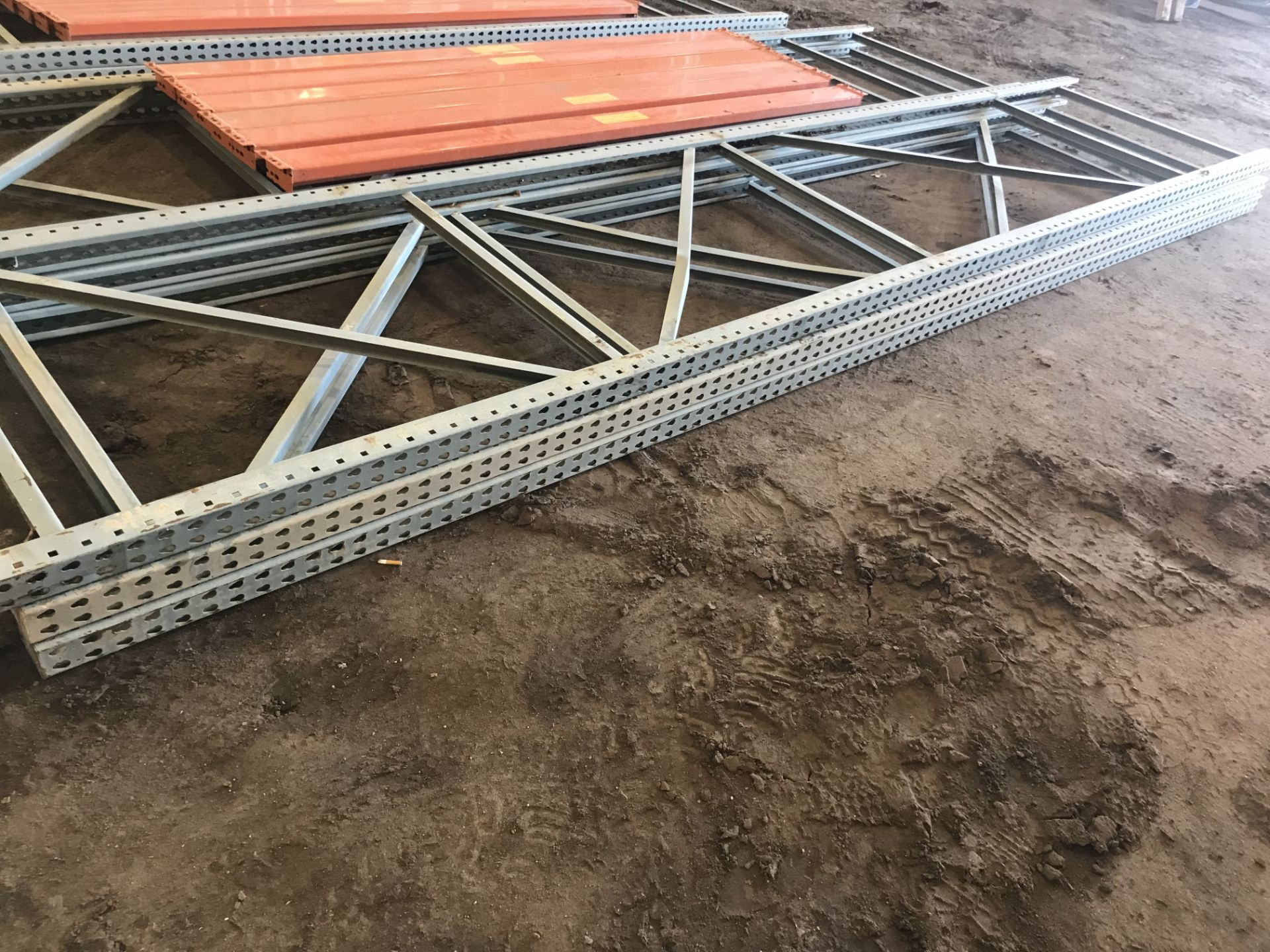 Lot 55E - Pallet Shelving 3) 15' Uprights Only
