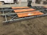 Lot 55 - Pallet Shelving 2) 15' Uprights 6) 9' Cross Sections