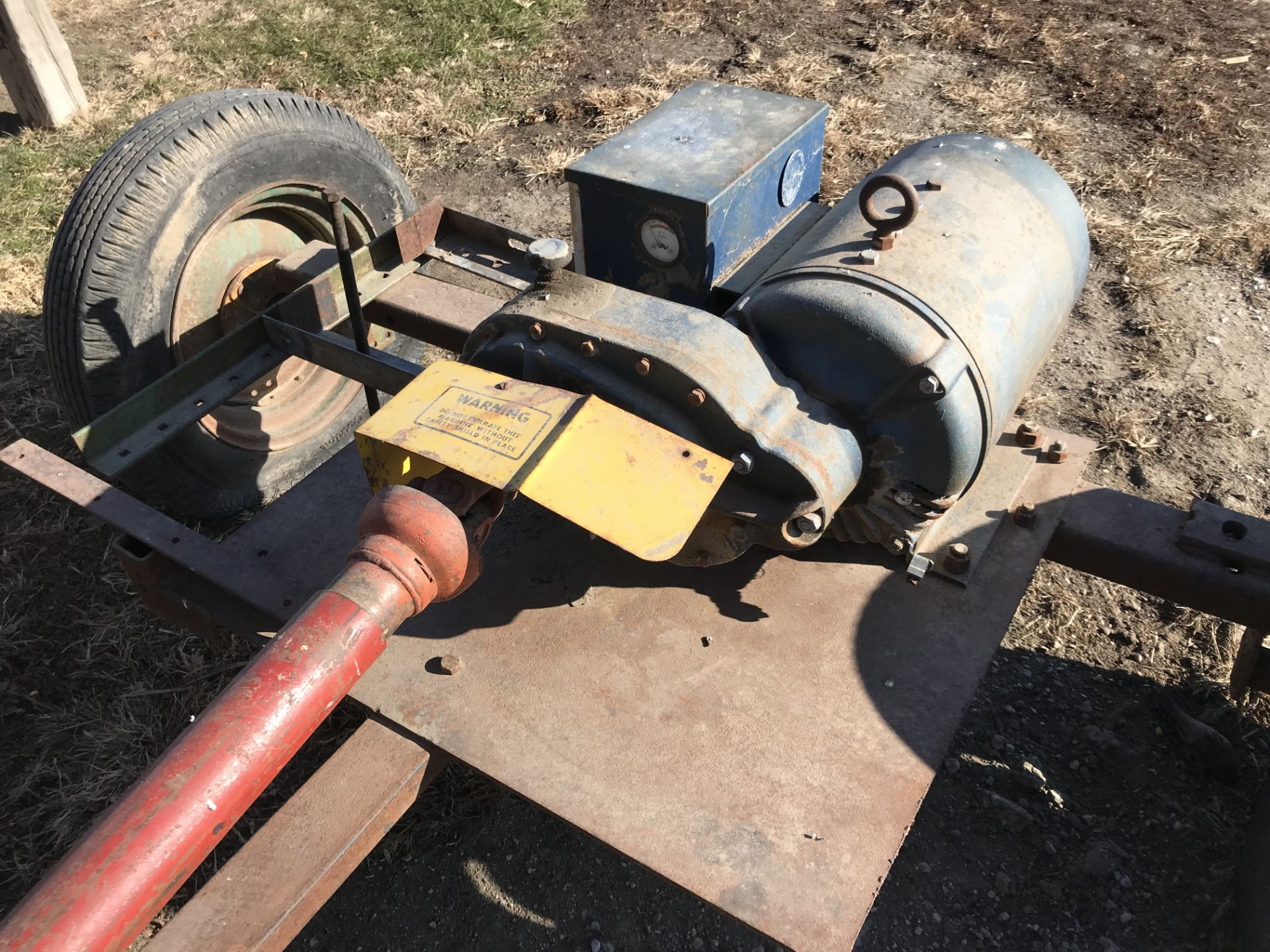 Lot 7 - Winco 20,000watt PTO Generator, 1phase w/Cart S#7190C A6