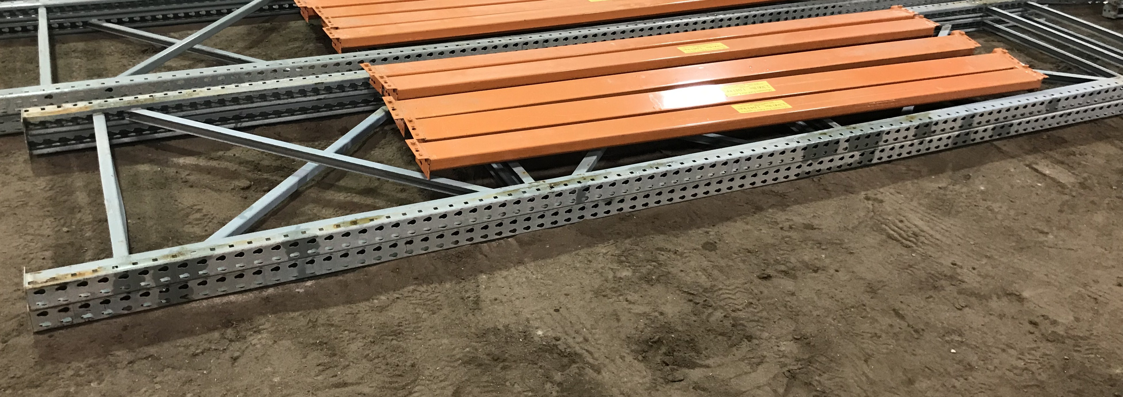 Lot 55D - Pallet Shelving 2) 15' Uprights 5) 9' Cross Sections