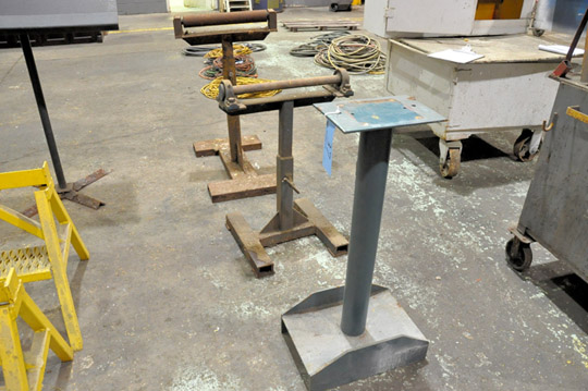 Lot 37 - Lot-(2) Material Stock Rollers with (1) Stand