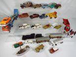 Lot 22 - Corgi, Dinky and Matchbox - twenty three good playworn, unboxed diecast vehicles,