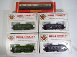 Lot 10 - Model Railways - five boxed Bachmann and Hornby pieces in HO and OO gauge comprising four Bachmann