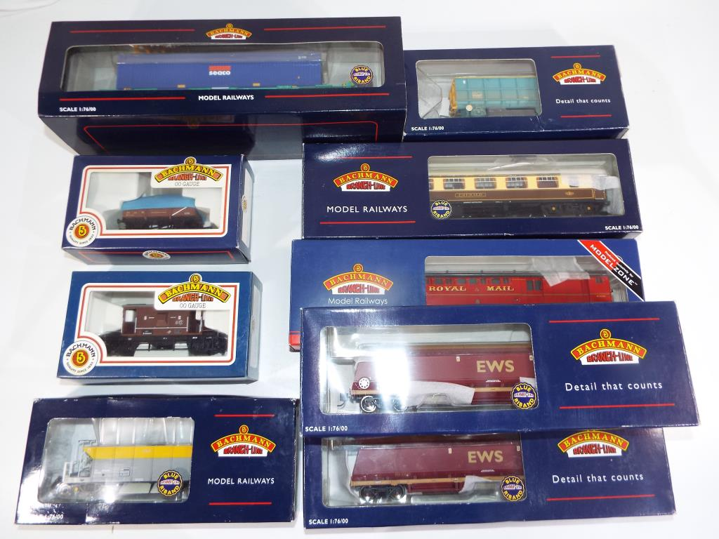 Lot 38 - Model Railways - ten items of Bachmann rolling stock in original boxes comprising ref #39-420W,
