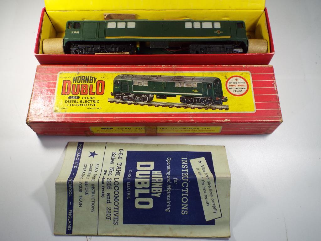 Lot 46 - Model Railways - a boxed Hornby Dublo OO gauge Co-Bo diesel two rail electric locomotive ,