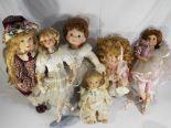 Lot 17 - Leonardo and The Ashton Drake Galleries - six porcelain dolls includes Jessie,