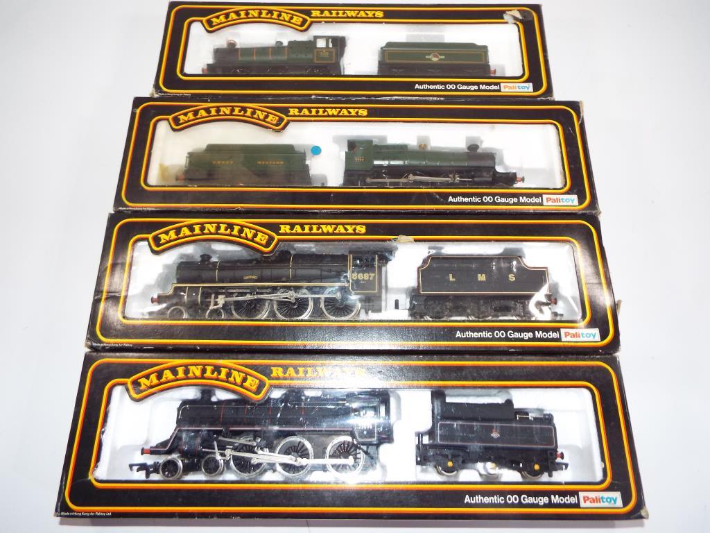 Lot 50 - Model Railways - four OO gauge steam locomotives from Main Line comprising ref #37-077, #37-074,