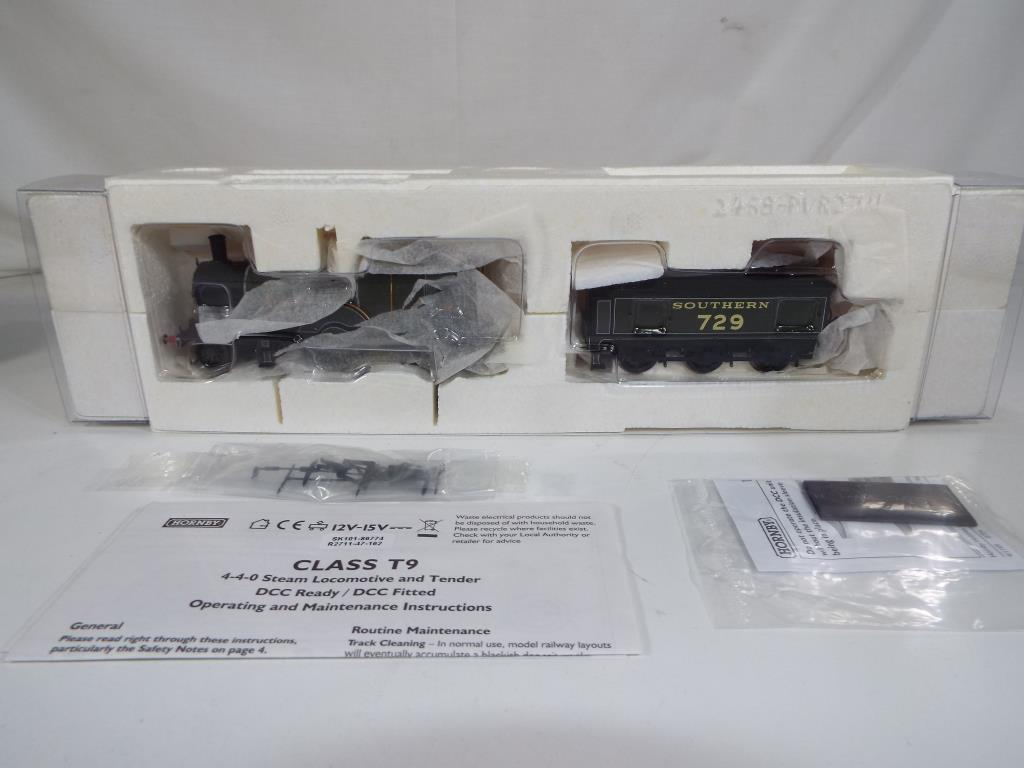 Lot 44 - Model Railways - a Hornby OO gauge Southern Region 4-4-0 class T9 steam locomotive in original box,